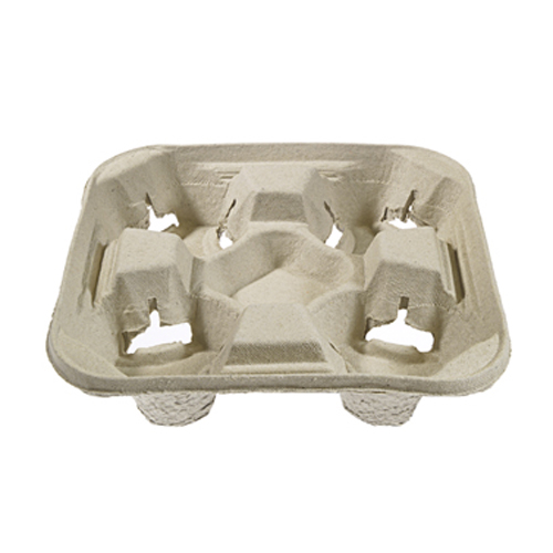 4-Slot Cardboard Coffee Tray - 300 Count