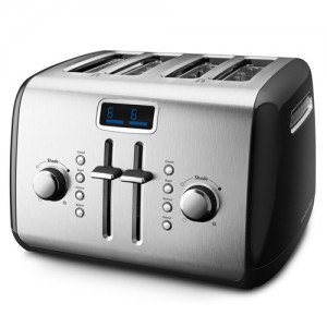 KitchenAid Onyx Black 4-Slice Toaster with LCD Display