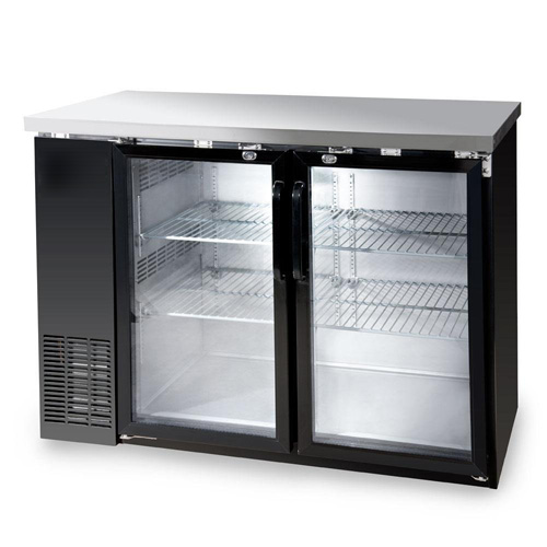 "48x24"" Glass Swing Door Back Bar Cooler - 115V, 0.33HP"