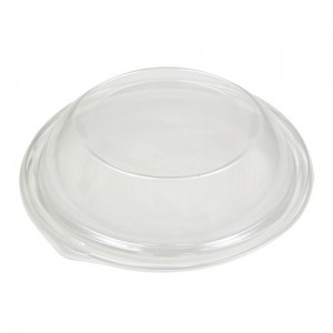 Clear Plastic Dome Lid for Black Catering Bowl (Case of 25)