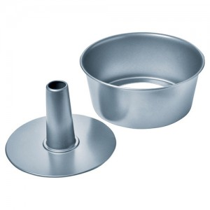 "10"" 2-Piece Aluminum Angel Cake Pan"