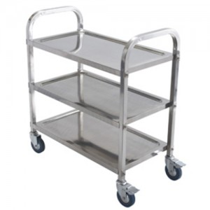 """30x16x32"""" S/S 3-Tier Utility Cart"""
