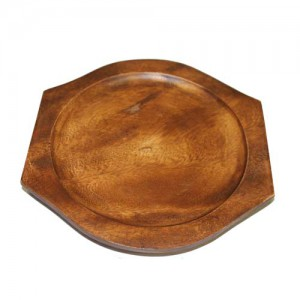 Round Wood Base For Sizzling Hot Plate