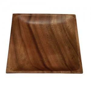 "6"" Square Wood Plate"