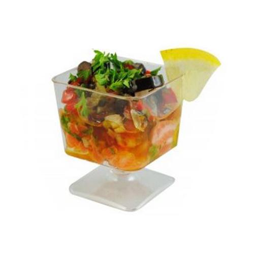 12-Piece Clear Disposable Mini Mousse Cup