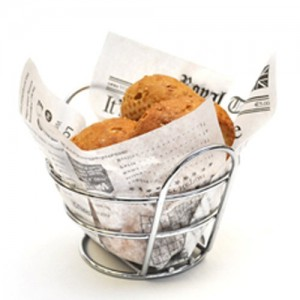 Chrome Wire Appetizer Basket
