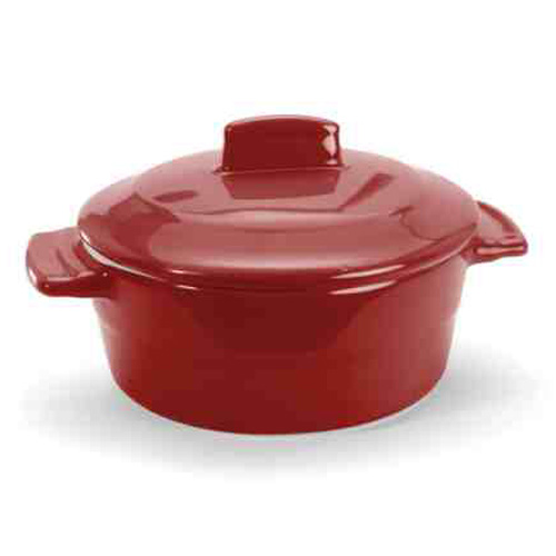 6 oz. Round Red Mini Casserole