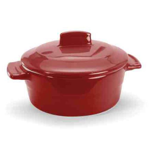 6 oz. Round Red Mini Casserole