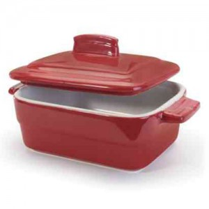 6 oz. Rectangle Red Mini Casserole