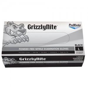 Large Disposable Powder Free Black Nitrile Gloves - 100 CT