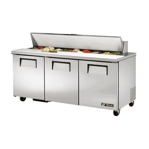 "True 72x30"" Refrigerated Sandwich Prep Table"