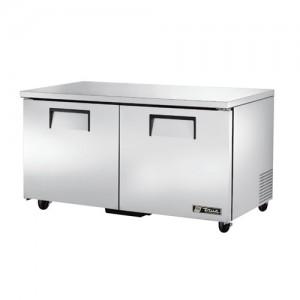 "True 60"" 2-Section Reach-In Undercounter Refrigerator"