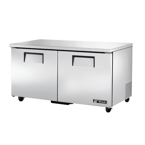 "True 60"" 2-Section Reach-In Undercounter Refrigerator"