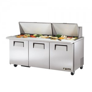 "True 72"" Mega Top Refrigerated Sandwich Prep Unit"