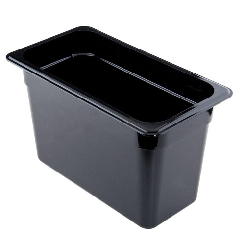 1/4 Size Black Food Pan