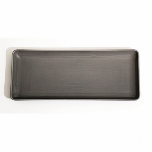 43x18CM Grey Rectangle Porcleain Tray