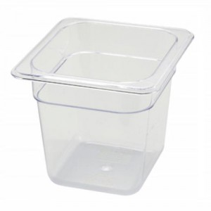 "1/6 Size x 6"" Polycarbonate Food Pan"