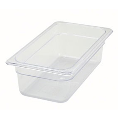 "1/3 Size x 4"" Polycarbonate Food Pan"