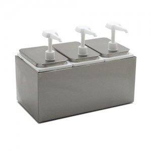 3-Compartment Sauce Pump Dispenser