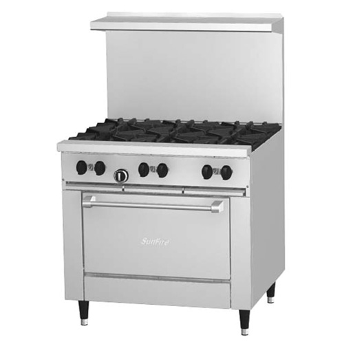 Garland Six Burner Range with Oven
