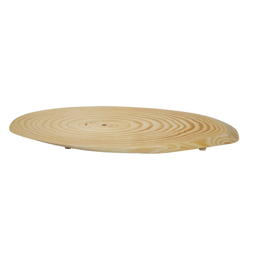44x20CM Natural Tree Trunk Oval Cheese Board