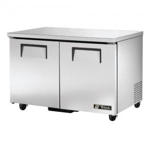 "True 48"" 2-Section Reach-In Undercounter Refrigerator"