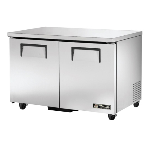 "True 48"" 2-Section Reach-In Undercounter Refrigerator"