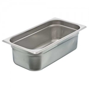 "1/3 Size x 4"" Light Weight Steam Pan Insert"
