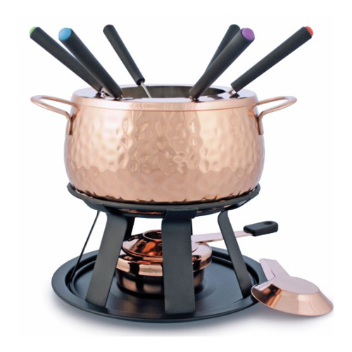 11-Piece Biel Copper Meat Fondue Set