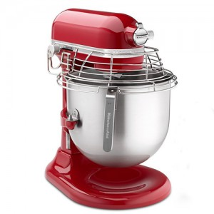 8 QT. Empire Red Commerical Bowl-Lift Stand Mixer with Bowl Guard