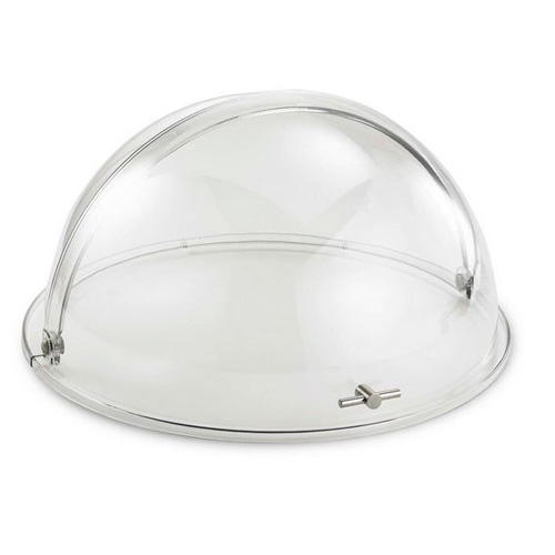 "19x10"" Round Polycarbonate Roll Top cover"
