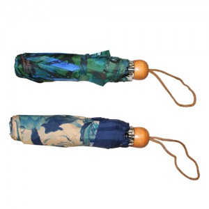 "7.5"" Wood Handle Umbrellas: 2 Assorted Colours"