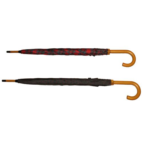 "27"" Wood Handle Umbrella: 2 Assorted Colours"
