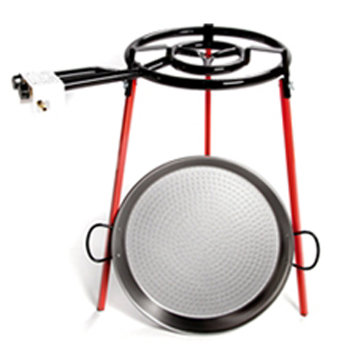 46CM Paella Pan Set with Double Ring Gas Burner