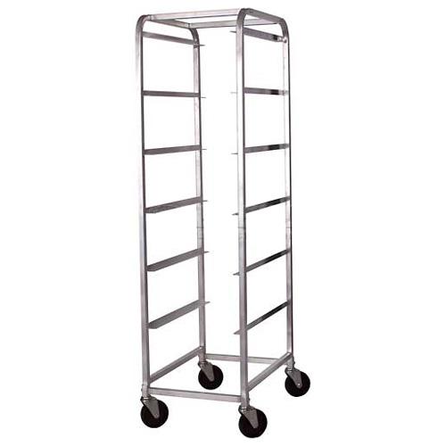 6-Tier Aluminum Bus Bin Cart