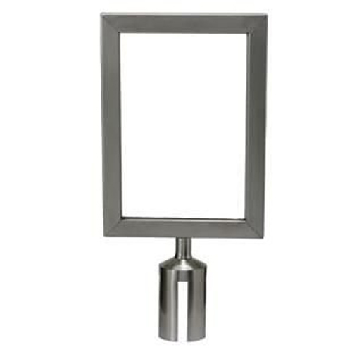 S/S Stanchion Top Sign Frame