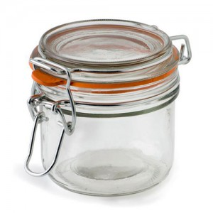 Mini Heremes Glass Jar