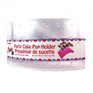 24-Cavity Clear Plastic Cake Pop Stand