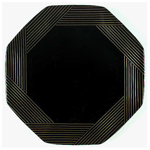 8.25IN. Black Marine Gold Decagon Plate