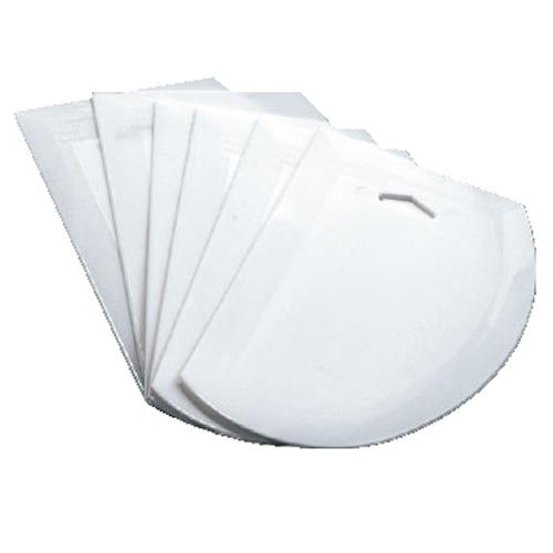 6-Pack 7.5x4.75IN. Plastic Dough Scraper