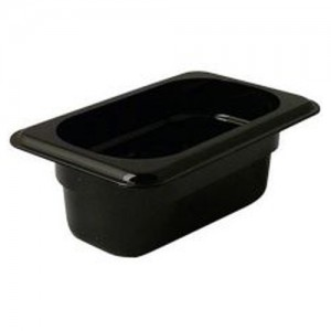 1/9 Size Black Food Pan