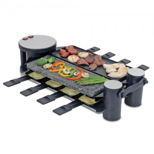 Cast Aluminum and Stone Grill Top Swivel Raclette