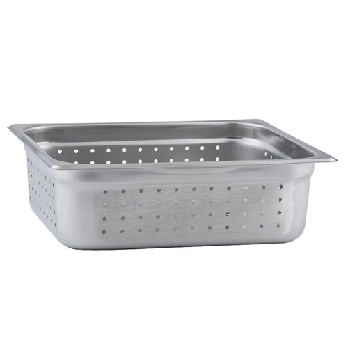 """1/2 Size x 4"""" Perforated Steam Pan Insert"""