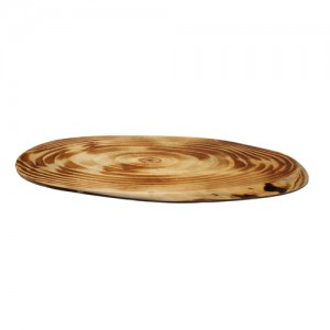 44x20CM Dark Tree Trunk Oval Cheese Board