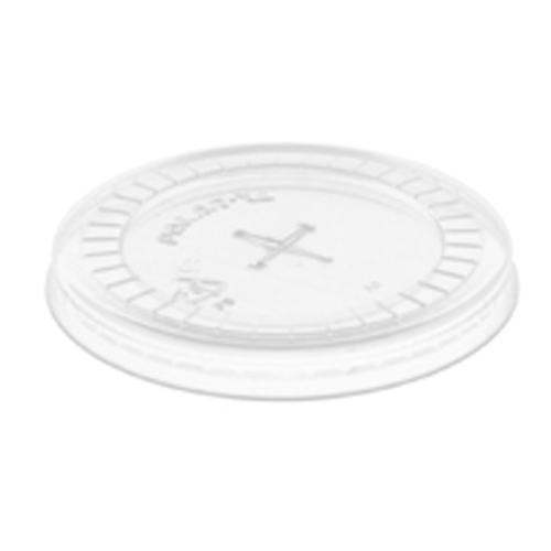 Clear Flat Lids with Straw Slot for 7-10 oz. - 100 CT