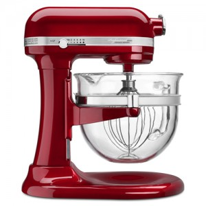 6 QT. Candy Apple Red Professional 6500 Design Bowl-Lift Stand Mixer