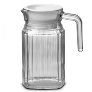 600ml Glass Pitcher with White Cap
