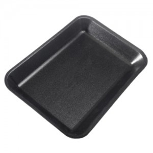 2S Black Foam Meat Tray - 500 CT