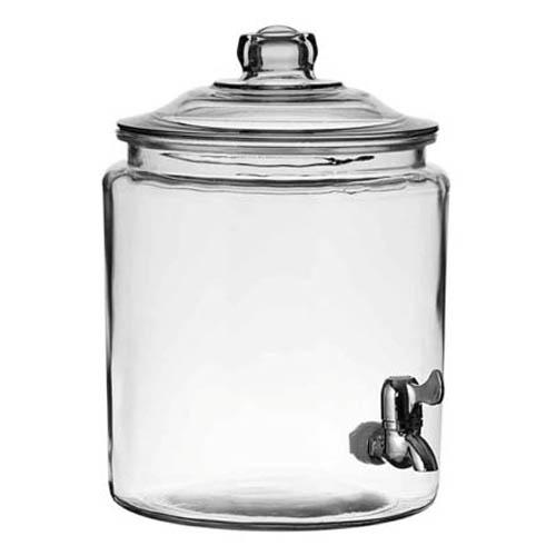 2gl Glass Heritage Hill Beverage Dispenser With Spigot
