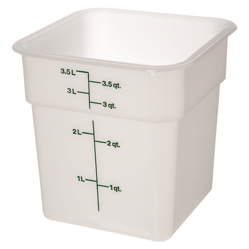 Cambro Square Ply White Food Containers Tap Phong